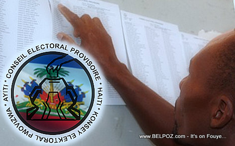 PHOTO: Haiti - Electoral Council Elections List