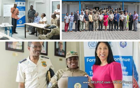 US Ambassador and Haitian Police trained by US Border Protection