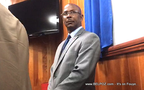 PHOTO: Prime Minister Jean Michel Lapin looks dazed and confused during Haiti Senate fight