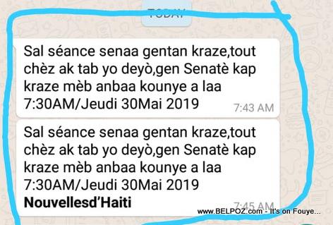 4 Senatè Oposition yo KRAZE tout bagay net nan Chanm Sena a