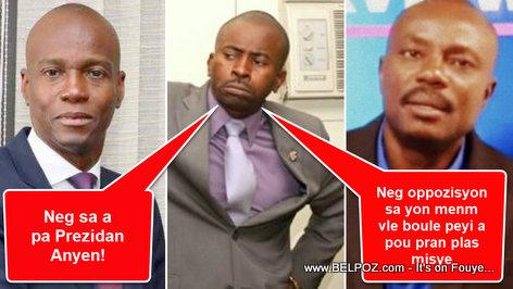 Haiti President Jovenel Moise, Senator Zokiki and Moise Jean Charles
