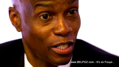 Haiti President Jovenel Moise with a shocking look in his face