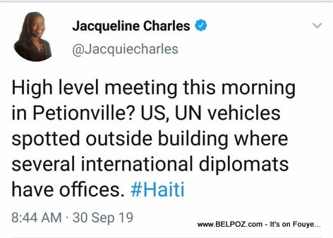 Jacqueline Charles on Twitter - High level meeting  in Petionville