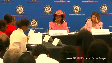 Nancy Pelosi speaking to Haitian-Americans in Miami Florida