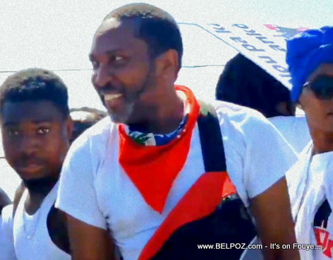 King Kino in the Haitian Artists protest against President Jovenel Moise