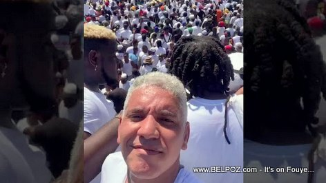 Singer Ti Joe Zenny in a Artist protest against President Jovenel Moise