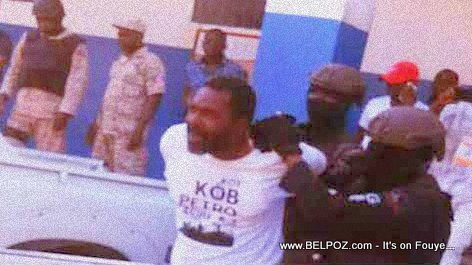 Photo of ex Haiti Depute Arnel Belizaire in Handcuffs