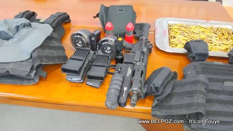 Illegal Weapons and Ammunition being sold in Haiti