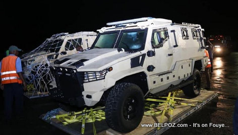 New armored vehicles for the Haitian Police