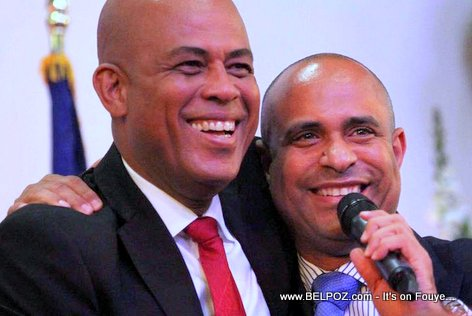 Haiti President Martelly and Lamothe in Brooklyn