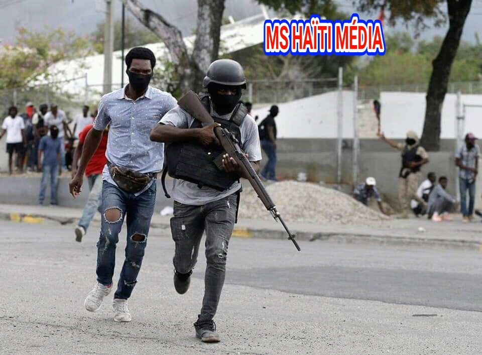 Photo from the fight between the military and police in Haiti