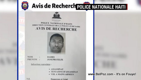 Joseph Felix Badio - Wanted in Haiti President Assassination
