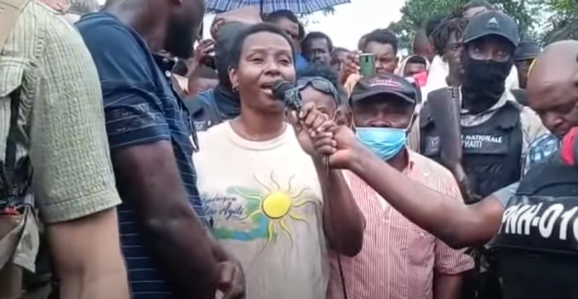 Haitian First Lady Martine Moise in Les Cayes Haiti after the Earthquakes