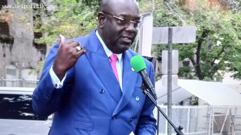 Haitian Ambassador Brocchit Edmond reminded Americans that Haitians you saw under the bridge of Texas once came herr to help you win the war