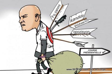 PHOTO: Haiti Caricature - Flech nan DO Laurent Lamothe, Kout Kouto Tet Kale...