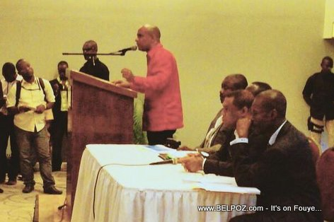 Laurent Lamothe nan yon Conference de Presse Vendredi 05 Juin 2015