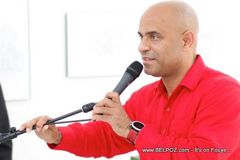 Candidate Laurent Lamothe in Little Haiti, Miami
