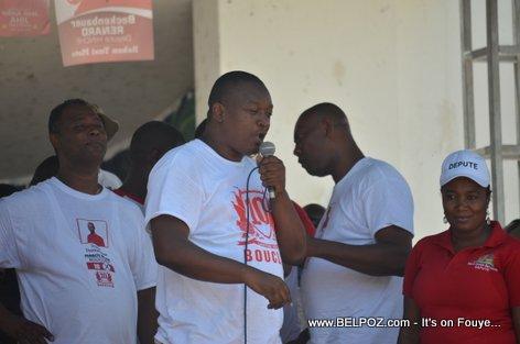 Candidate Beckenbauer Renard - Bouclier Election Campaign Hinche Haiti