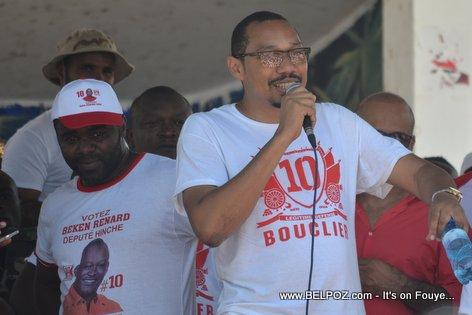 Candidate Jean Junior Jiha - Bouclier Election Campaign Hinche Haiti