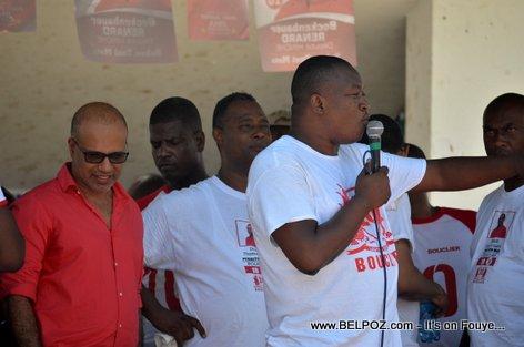 Candidate Steve Khawly, Beckenbauer Renard - Bouclier Election Campaign Hinche Haiti