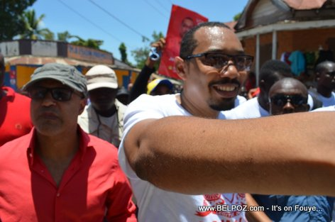 Candidate Steve Khawly, Jean Junior Jiha - Bouclier Election Campaign Hinche Haiti