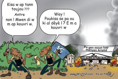 Haiti Caricature - Rantre Arete Aristide Tabarre, Kilès ki Kapab?