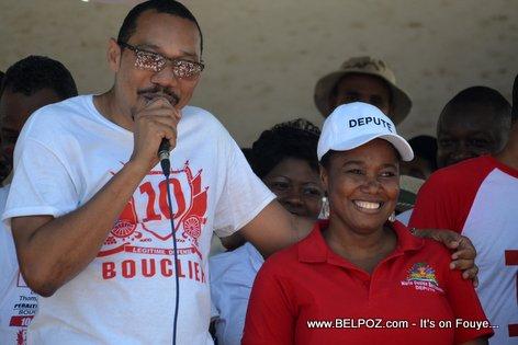 Jean Junior Jiha, Marie Denise Bernadeau - Bouclier Election Campaign Hinche Haiti