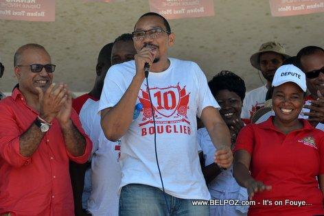Steve Khawly, Jean Junior Jiha, Marie Denise Bernadeau - Bouclier Election Campaign Hinche Haiti
