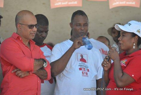 Steve Khawly, Marie Denise Bernadeau - Bouclier Election Campaign Hinche Haiti