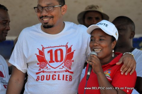 Marie Denise Bernadeau, Jean Junior Jiha - Bouclier Election Campaign Hinche Haiti