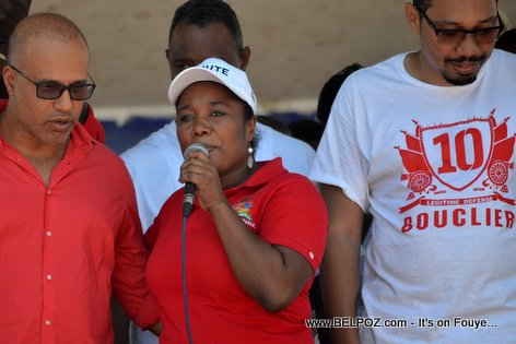 Steve Khawly, Marie Denise Bernadeau, Jean Junior Jiha - Bouclier Election Campaign Hinche Haiti