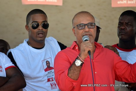 Steeve Khawly, Hantz Fred Mercier (Ti Ansyto) - Bouclier Election Campaign Hinche Haiti