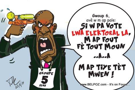 Haiti Caricature - Group 5 Senateur voye yon Mesaj bay G6 la