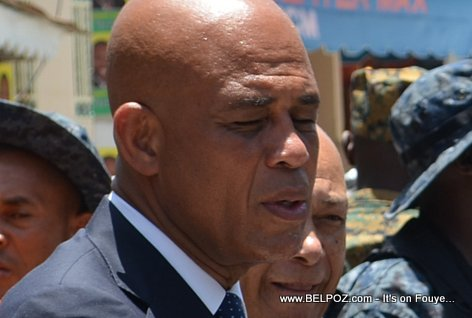 President Michel Martelly looks tired