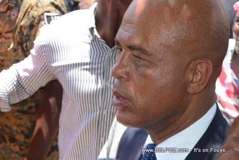 President Michel Martelly looks tired