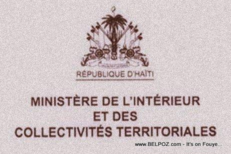 Haiti : Ministère de l'Intérieur et des Collectivités Territoriales