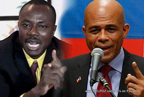 Haiti President Martelly - Senator Moise Jean Charles