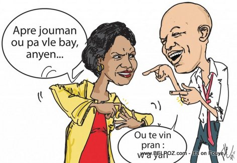 Haiti Caricature - Edmonde Beauzile Divorce ak President Martelly