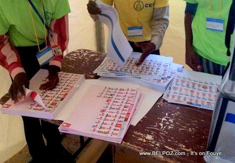 Haiti Elections Bulletins de Vote 2015