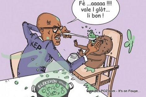 Haiti Caricature - KEP Opont ap Fose Pep la Bwè Election an