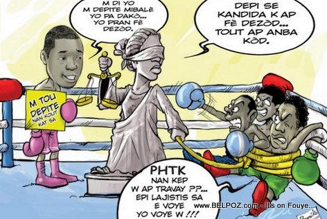 PHOTO: Haiti Caricature - Kandida anba Kod