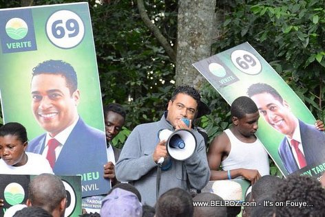 Haiti Elections 2015 - Candidate Jerry Tardieu Campaigning