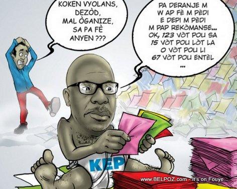 PHOTO: Haiti Elections Caricature - KEP Opont ap konte Vote, Zot ap detounen li