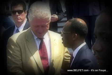 Former Presidents Bill Clinton (USA) and Jean Bertrand Aristide (Haiti)