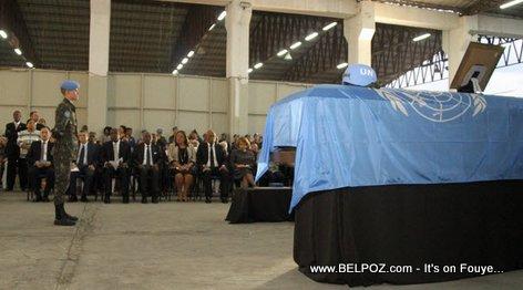 Memorial Service for MINUSTAH Commander Jose Luiz Jaborandy