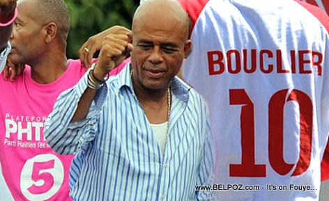 President Michel Martelly - PHTK vs BOUCLIER