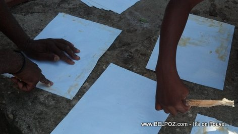 Haiti Elections - Posters Jude Celestin ap Kole nan ville Hinche