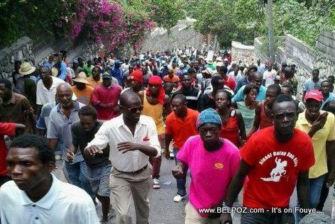 Haiti anti-government protesters