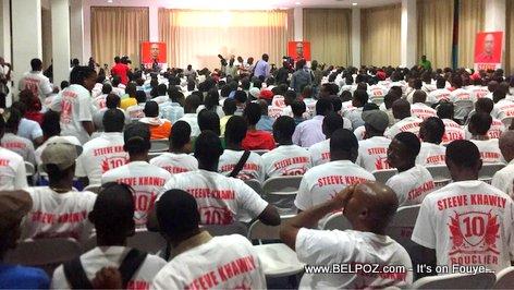 Haiti Elections - Steeve Khawly Lanse Campagne Officiel li nan Cine Triomphe, sou Champ-de-Mars...
