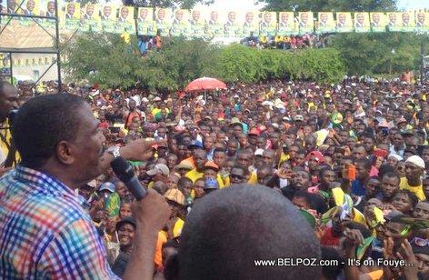 Haiti Elections - Jude Celestin Campagne Electoral Hinche